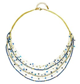 Lina Necklace Blues