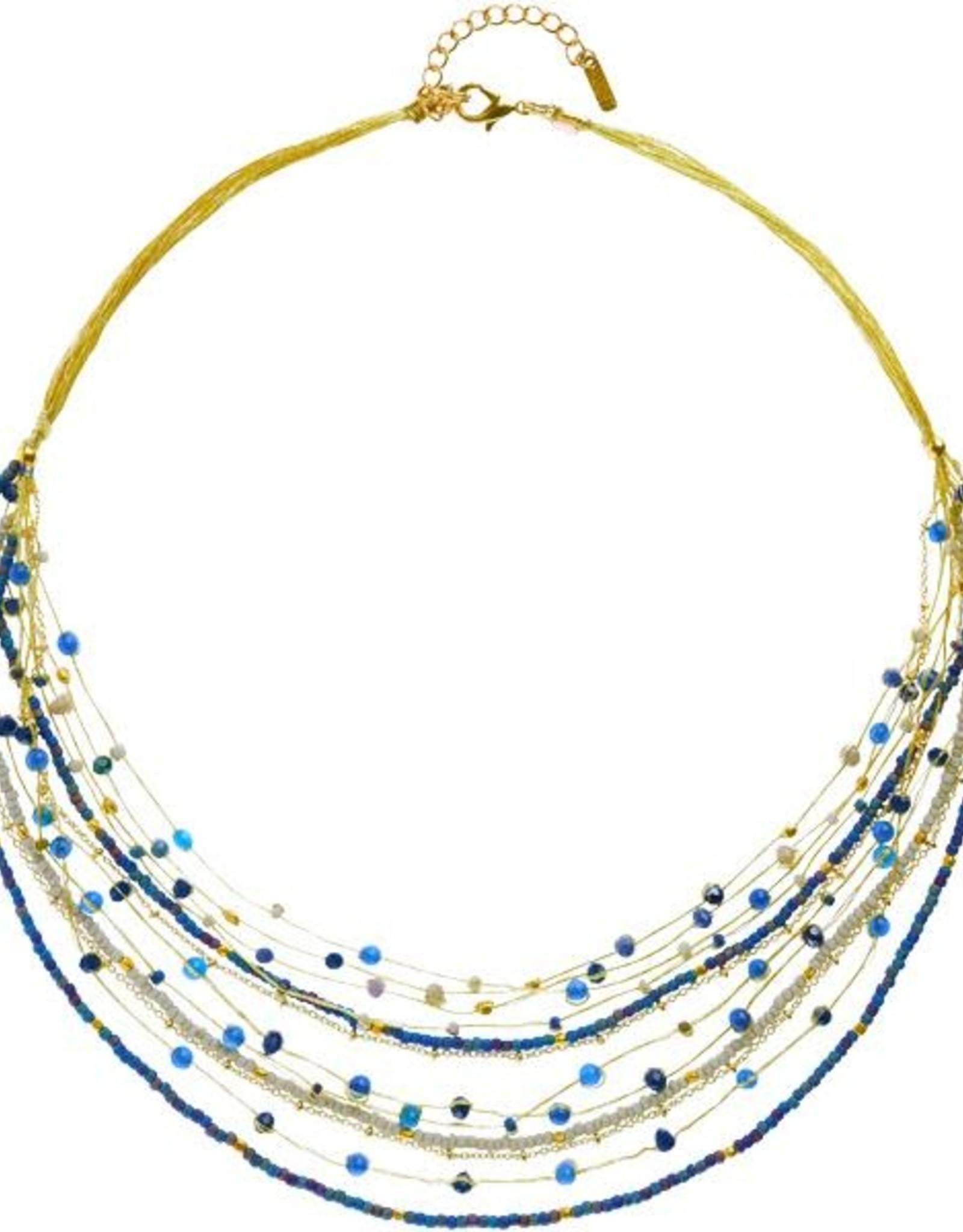 Lina Necklace Blues