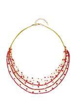 Lina Necklace Reds