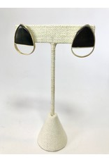 Magdalena Horn Post Earrings, Dark