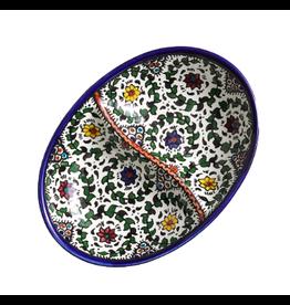 Ceramic Divided Dish, West Bank