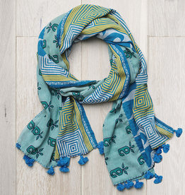 Kantha Scarf Tones  Cool, India