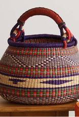 Violet/Red 5-Color Market Basket, Ghana