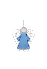 Blue Capiz Angel Ornament, Philippines