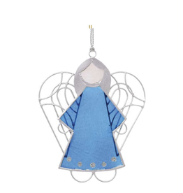 Blue Capiz Angel Ornament, Philippines