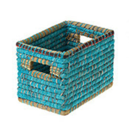 Small Chindi Basket, Bangladesh, Teal