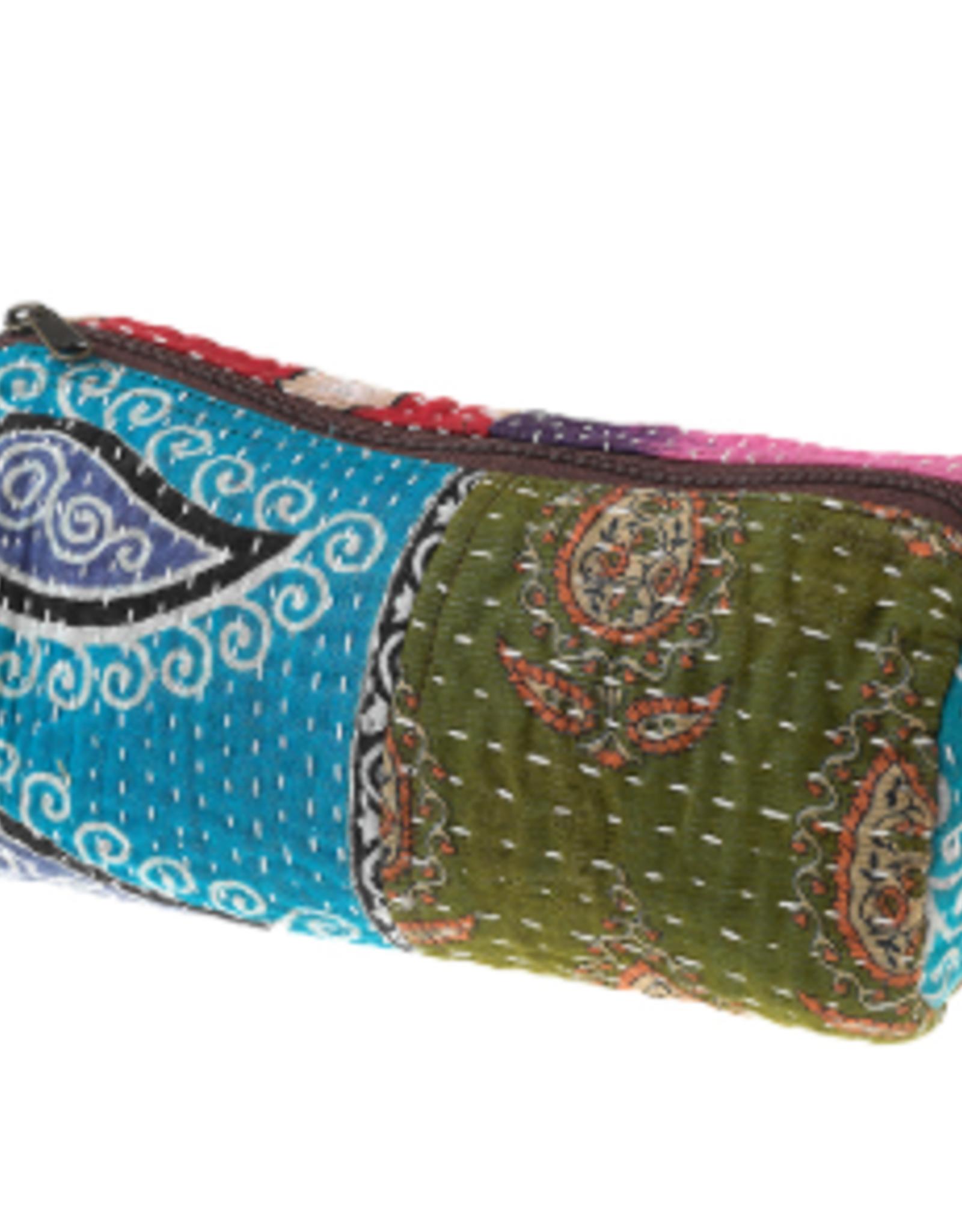 Kantha Makeup Bag