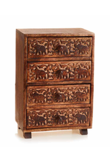 India, Tabletop Elephant Chest