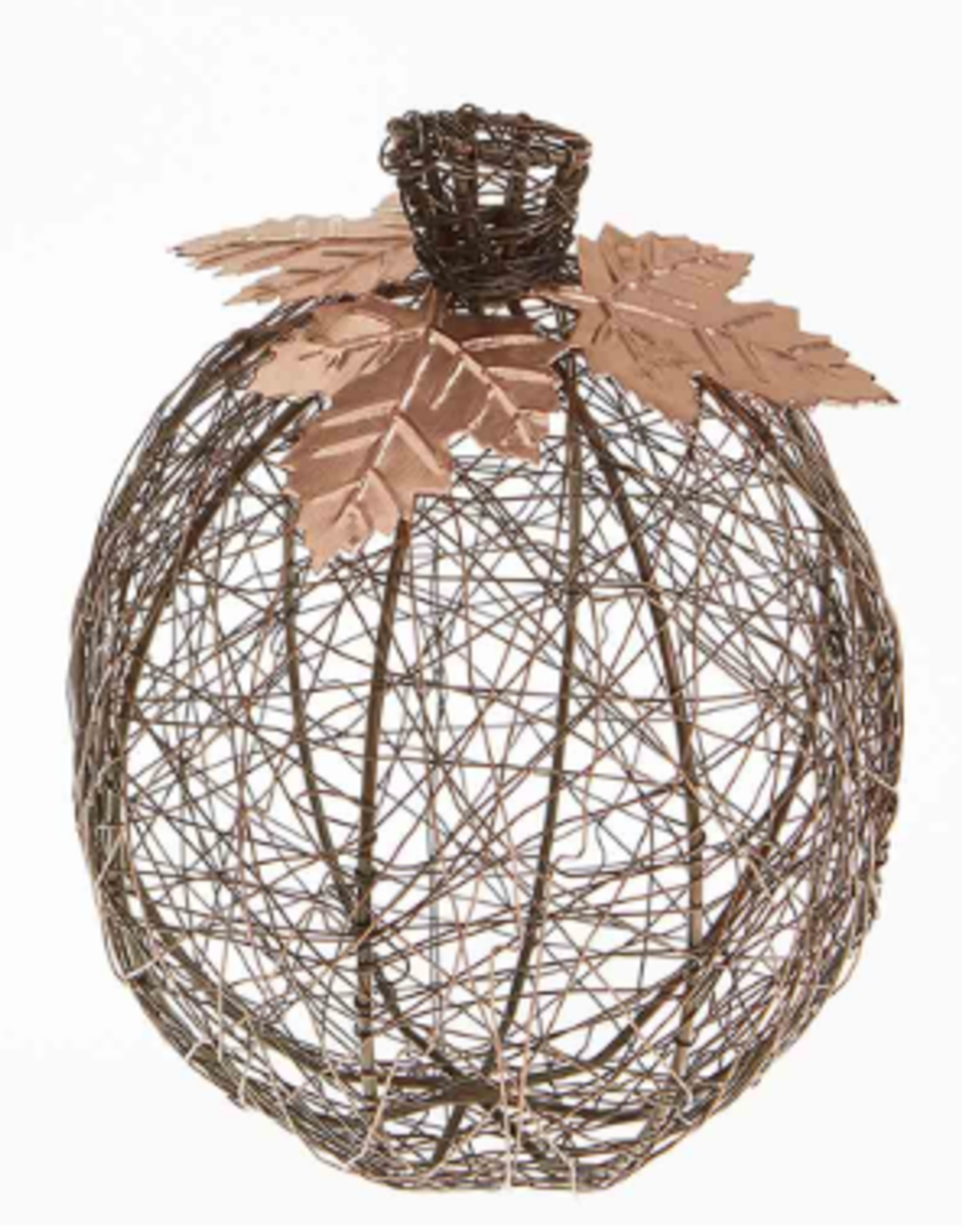 Wire-Wrapped Pumpkin-Tall