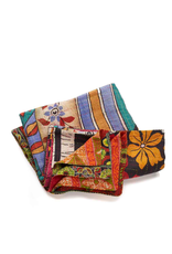 Twin Size Kantha Bedcover