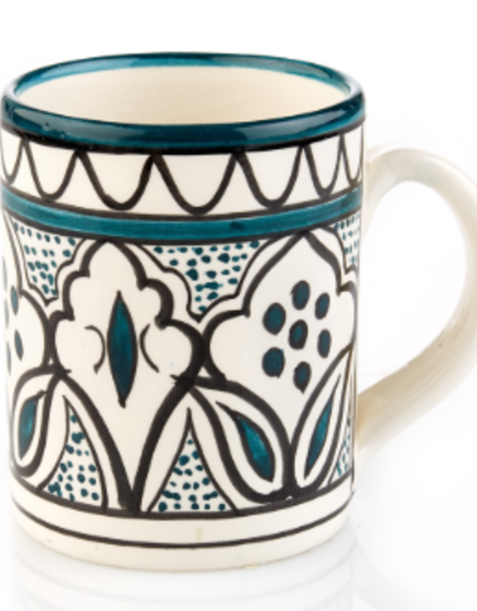 Ceramic Mug Teal, West Bank