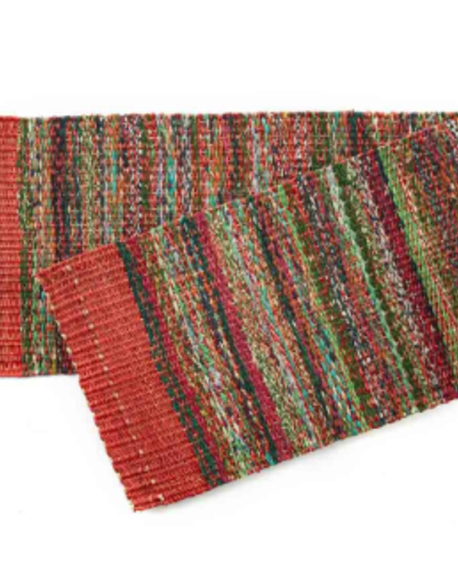 India, Sari Table Runner Red