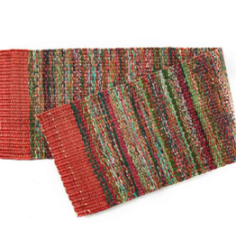 India, Sari Table Runner Red