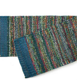 India, Sari Table Runner Teal