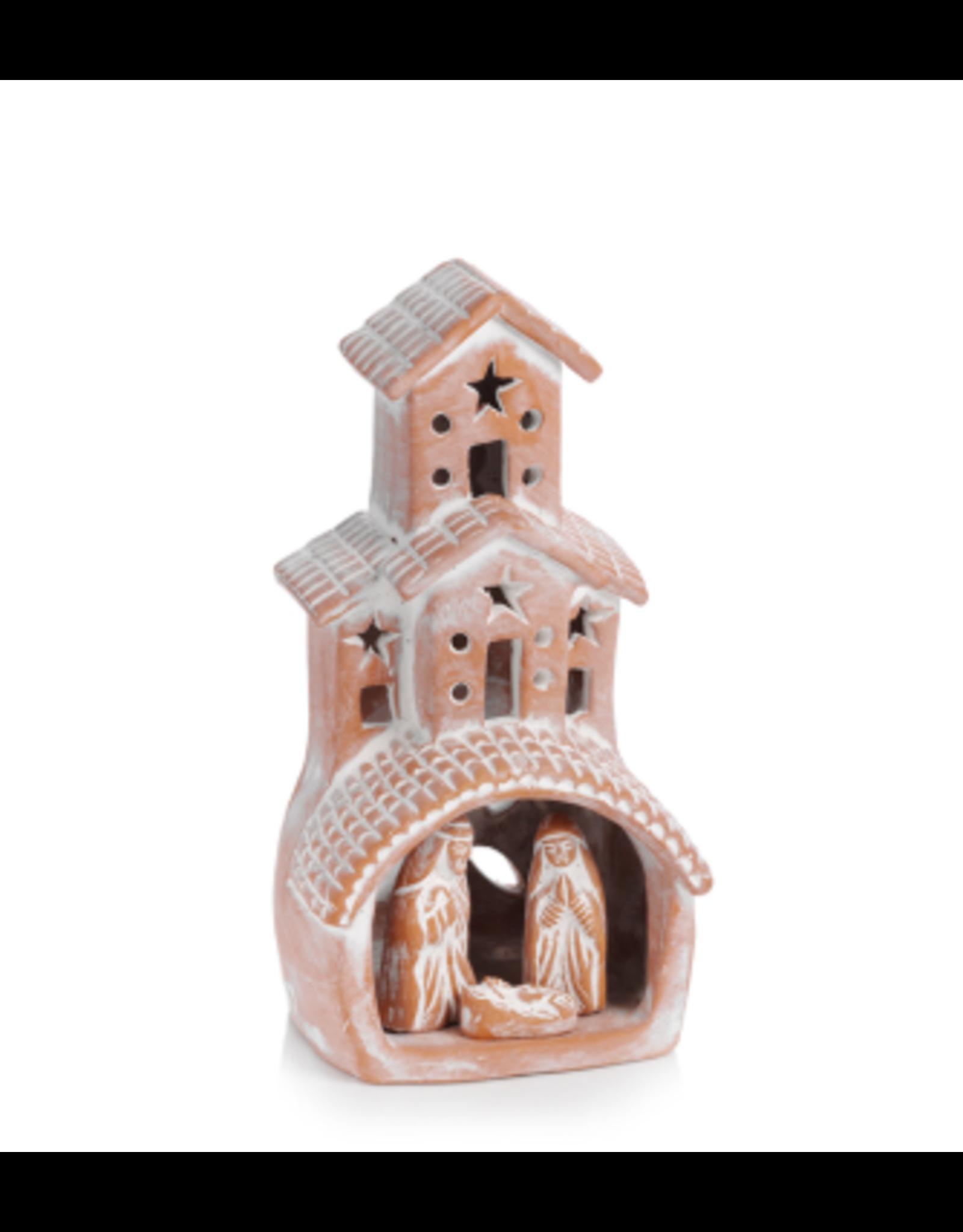 Terra Cotta Chimney Nativity