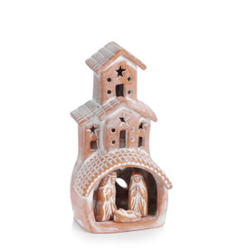 Terra Cotta Chimney Nativity