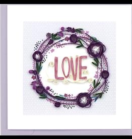 Love Wreath Quilling Card, Vietnam