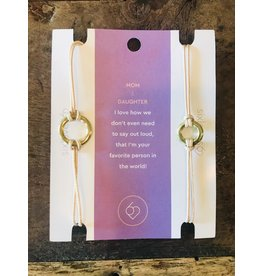 Carded Saying Bracelets Mother & Daughter