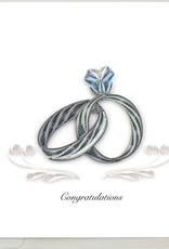Wedding Rings Quilling Card