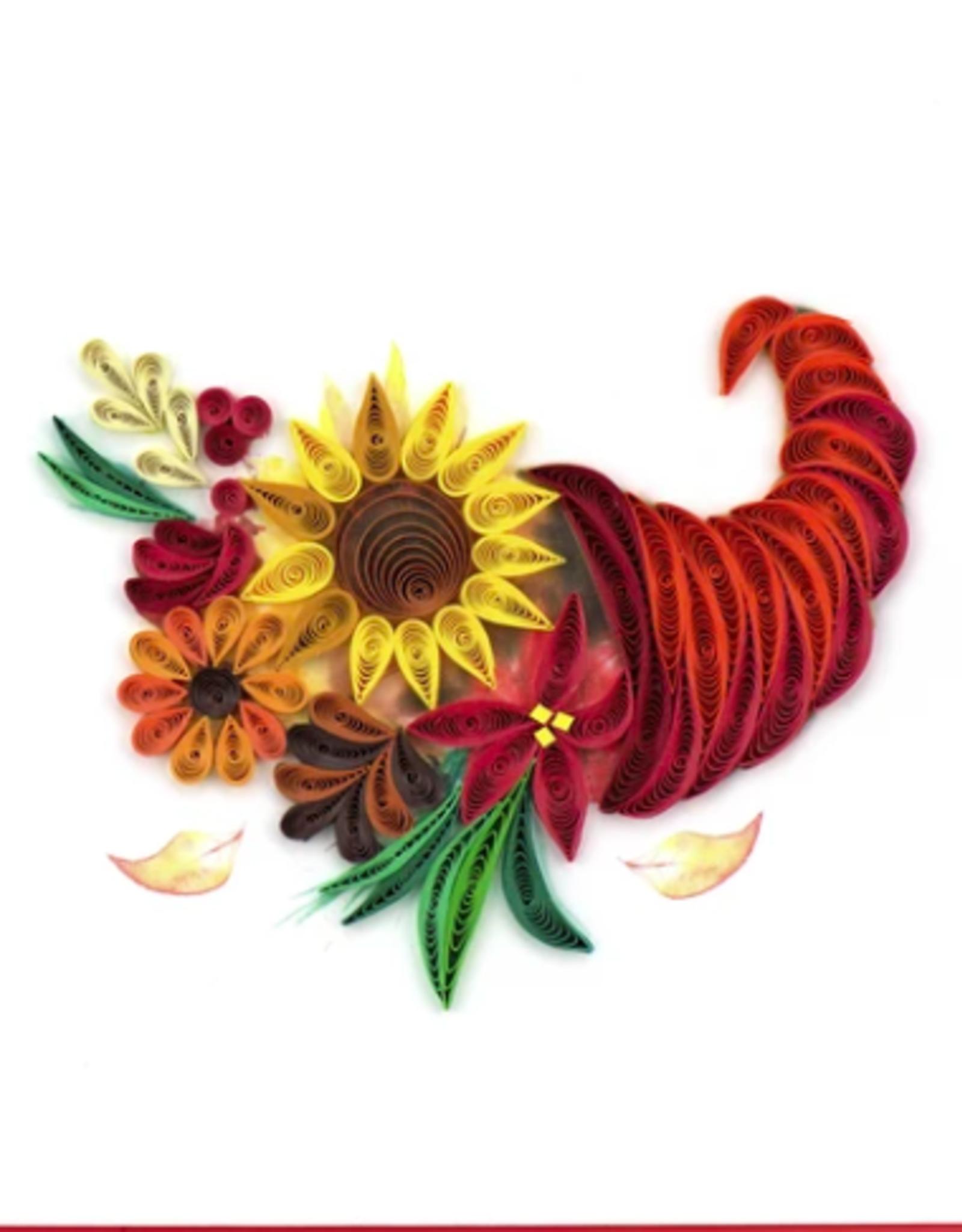 Vietnam, Floral Cornucopia Quill Card
