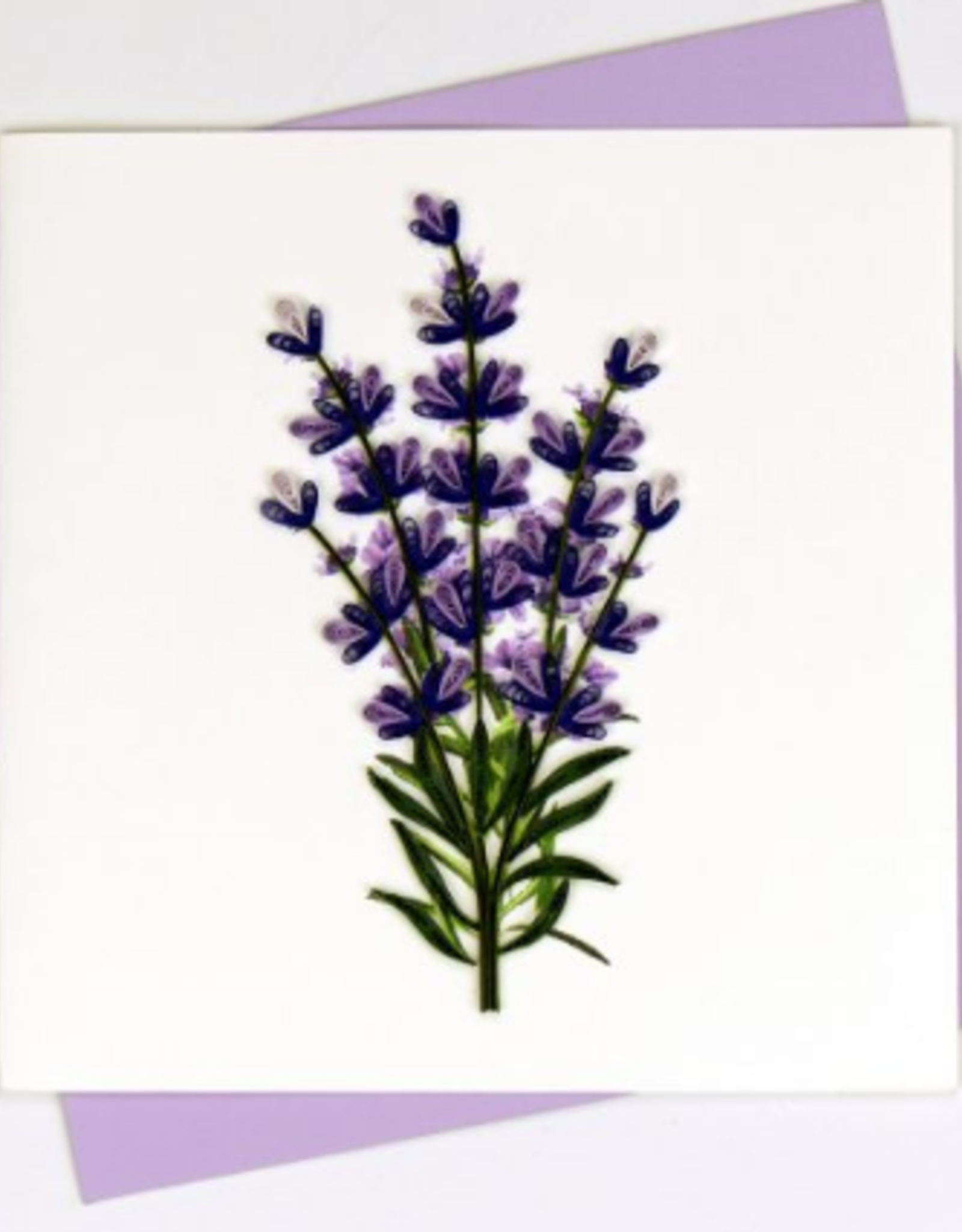 Lavender Quilling Card
