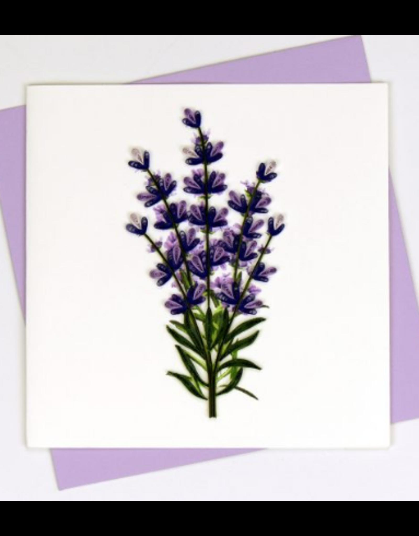 Lavender Quilling Card, Vietnam