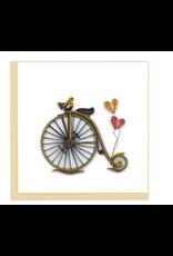 Vintage Bicycle Quilling Card, Vietnam