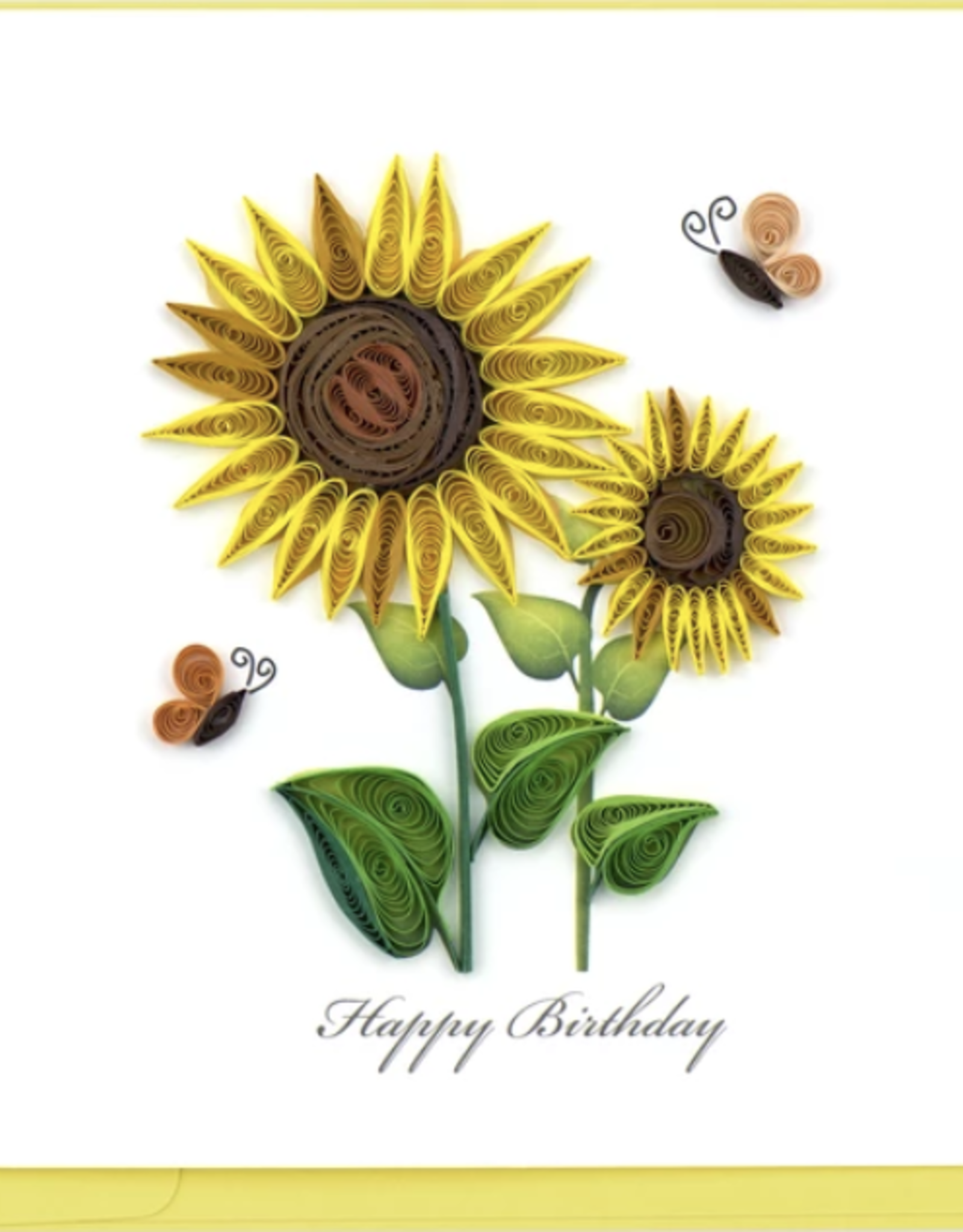 Sunflower Birthday Quilling Card