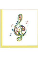 Treble Clef Quilling Card, Vietnam