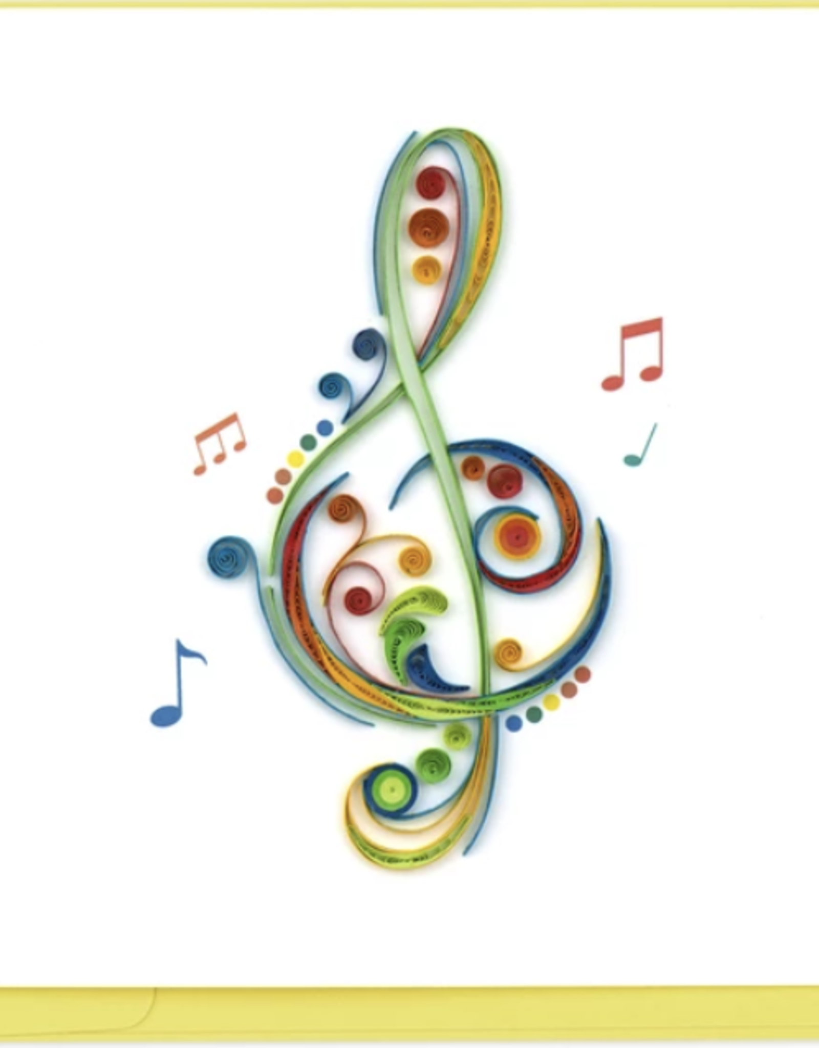 Treble Clef Quilling Card