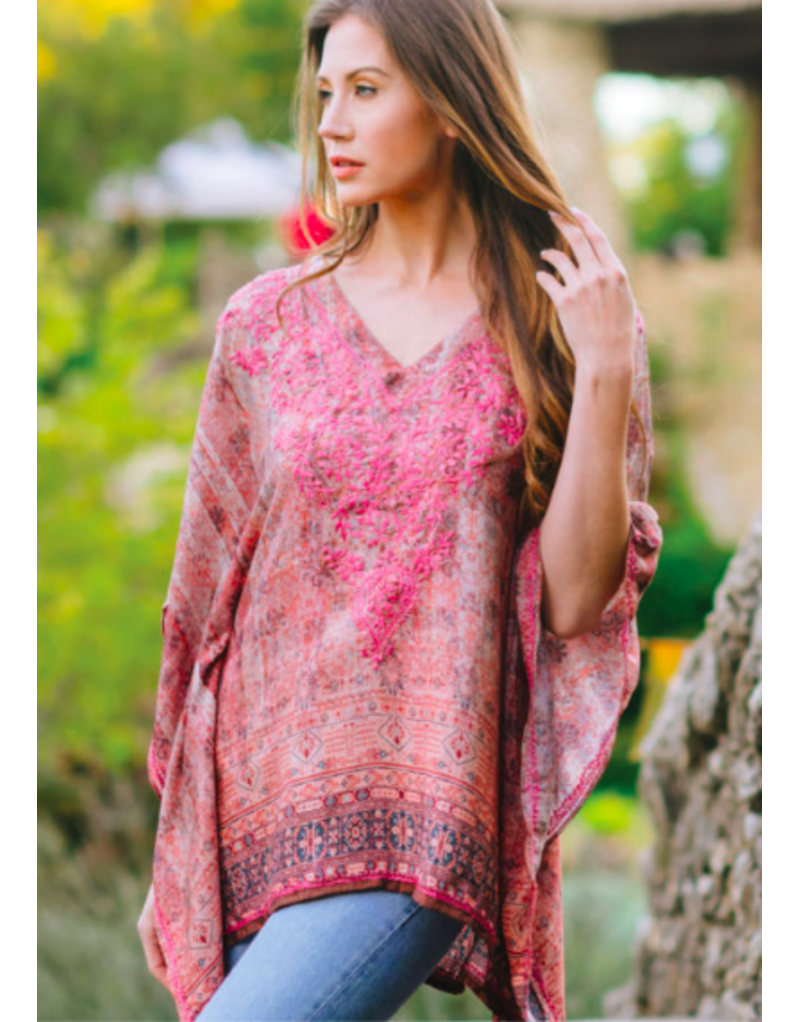 Demira Embroidered Top Pink, India
