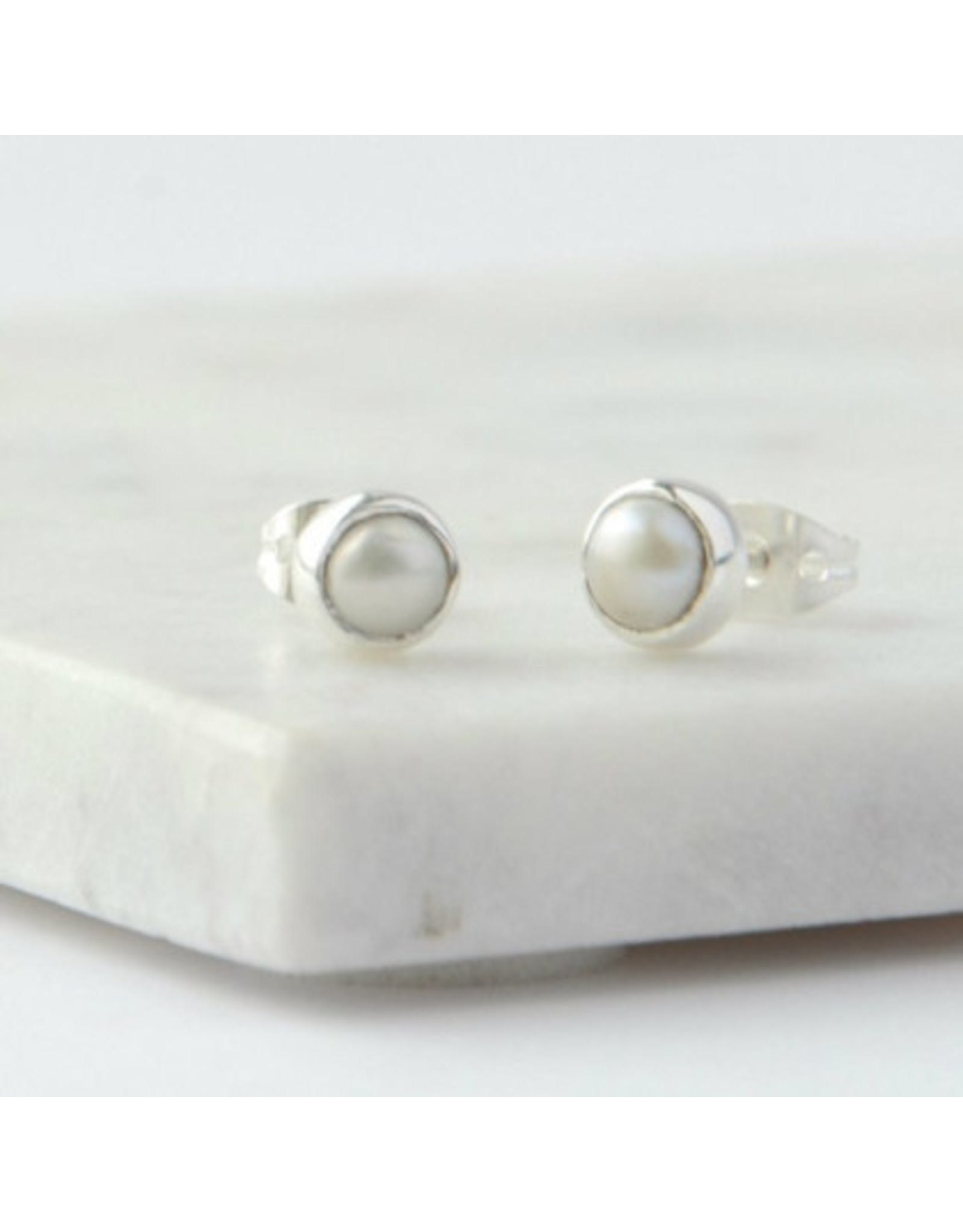 Ethereal Pearl Studs, India