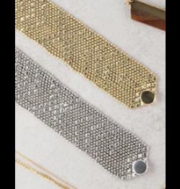 Metalwork Bracelet Silver/Gold, India