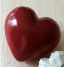 Plain   Red Heart Soapstone Paperweight, Kenya