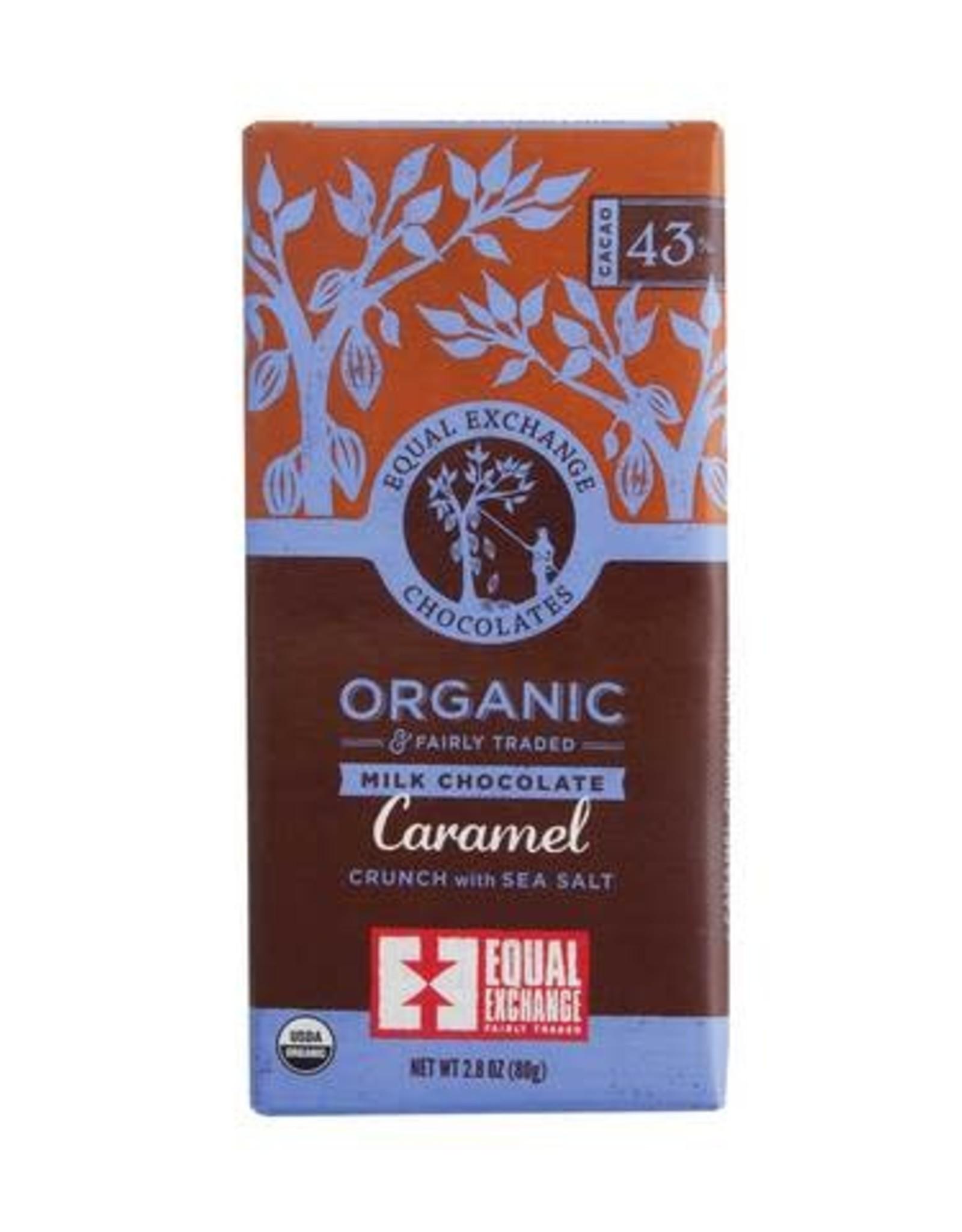Organic Caramel Crunch with Sea Salt Milk Chocolate Bar