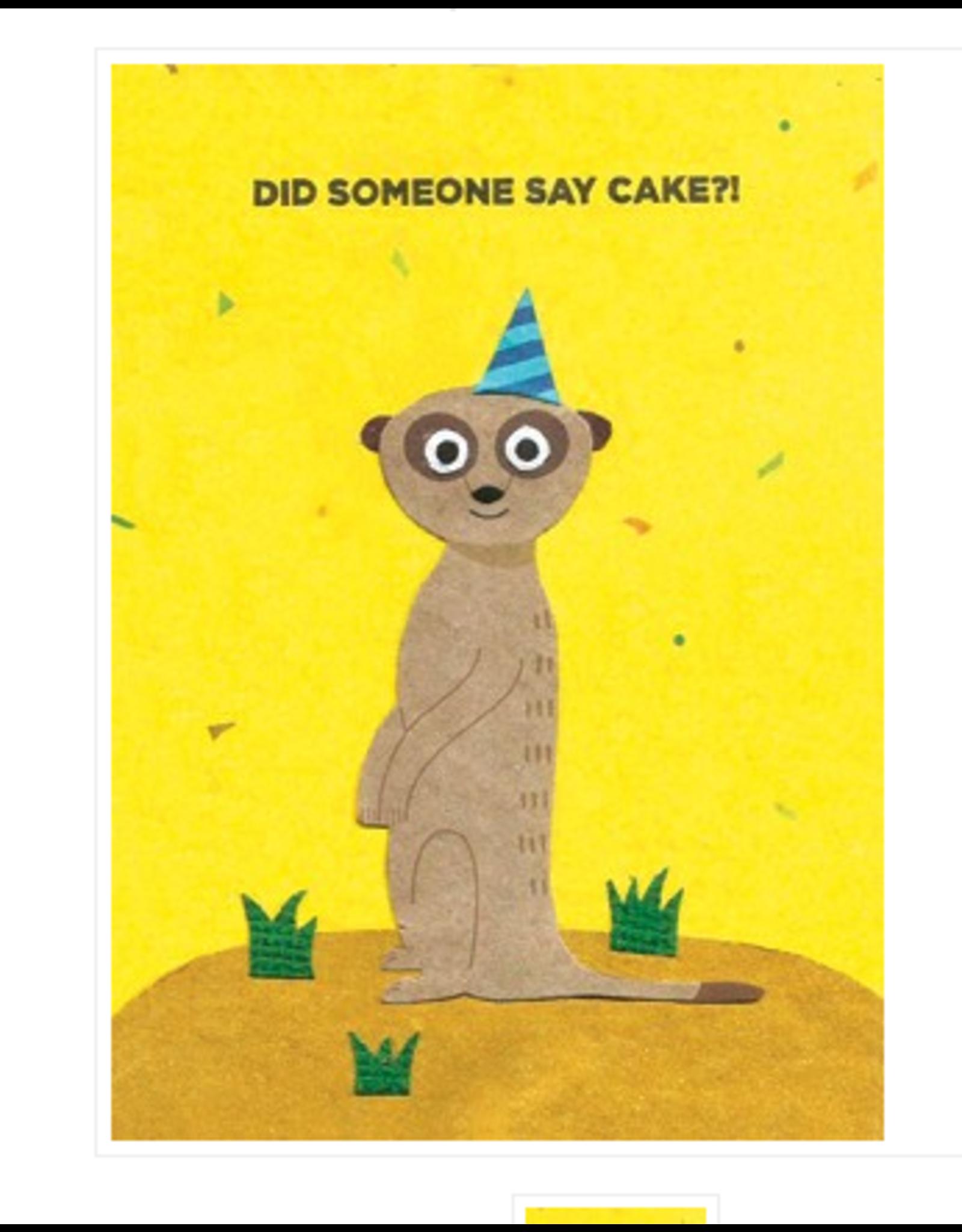 Meerkat Birthday Greeting Card, Rwanda