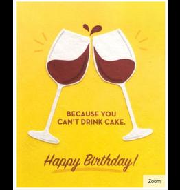 Wine Birthday Greeting Card