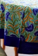 """Blue Cornflower Tablecloth 70"""" Round"""