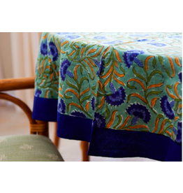 "Blue Cornflower Tablecloth 70"" Round"