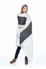 Reversible Alpaca Throw, Monochrome,Peru