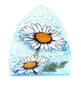 Ecuador, Glass Nightlight Daisy Flower