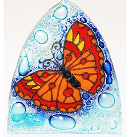 Ecuador, Glass Nightlight Butterfly