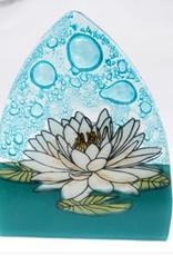 Ecuador, Glass Nightlight White Lotus