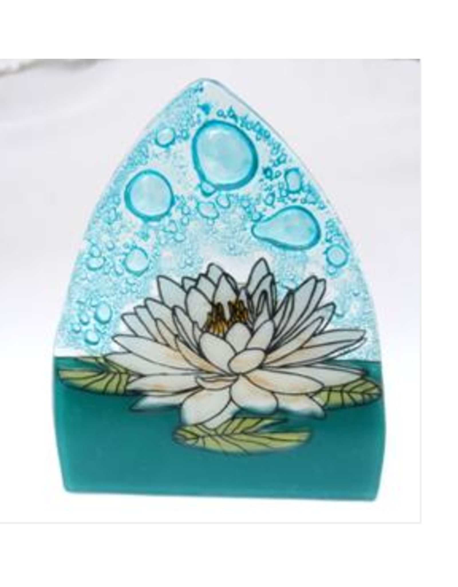 Glass Nightlight White Lotus, Ecuador