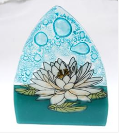 Ecuador, Glass Nightlight White Lotus