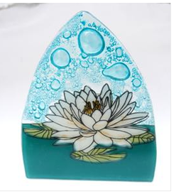 Glass Nightlight White Lotus, Ecuador