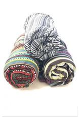 Brushed Cotton Gyari Throw Blanket with Strap, Nepal