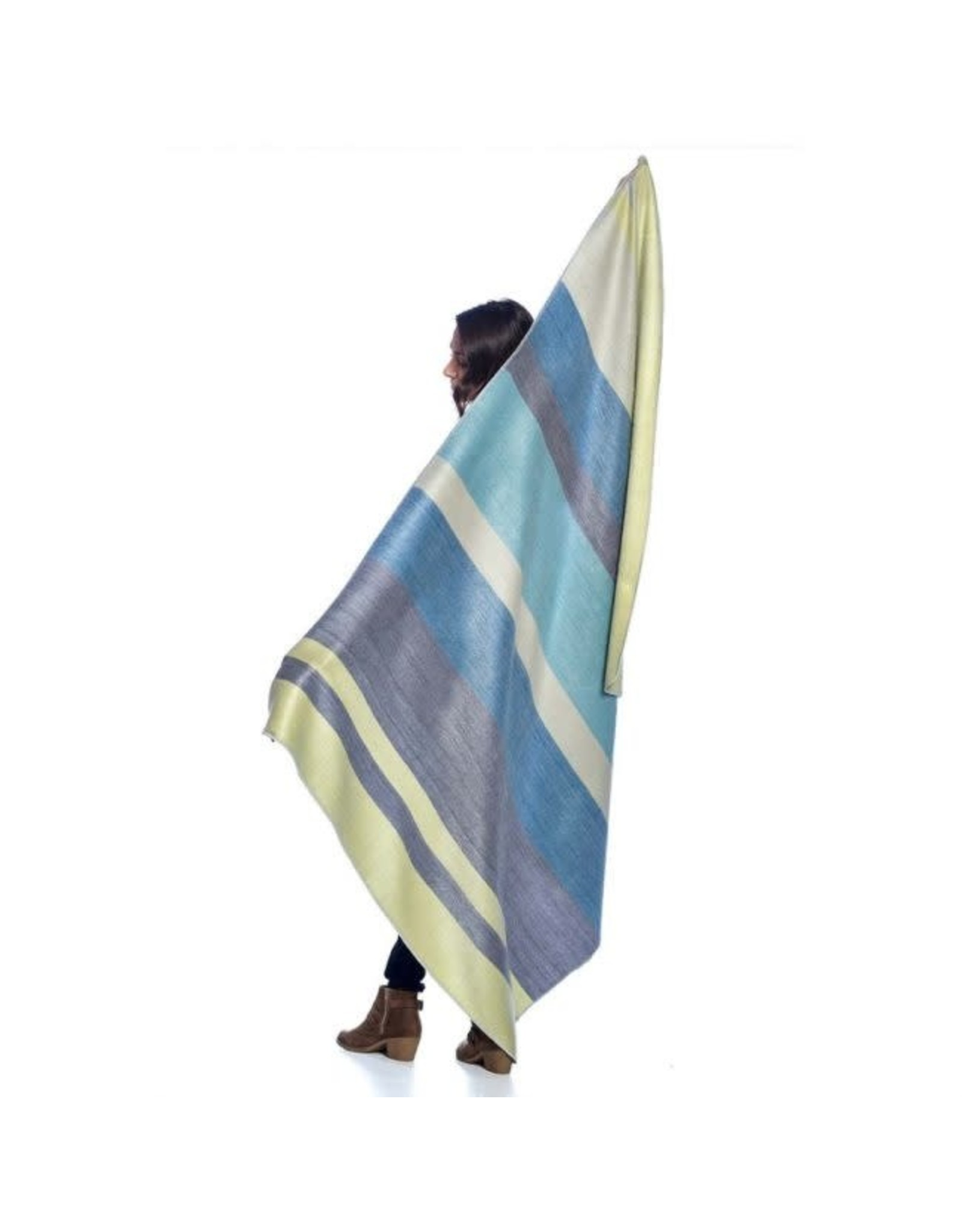 Alpaca Throw, Mineral Blue, Ecuador