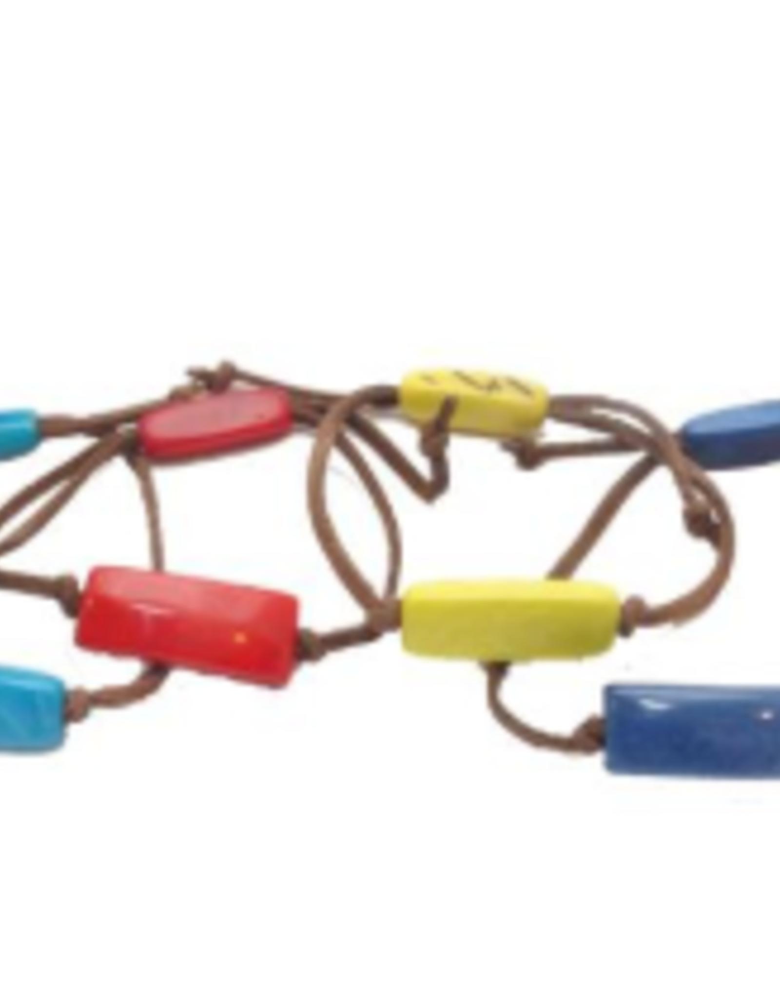 Ecuador, Tagua and Leather Bracelet