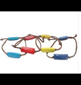 Tagua and Leather Bracelet, Ecuador